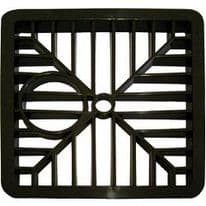 """Select Gully Grid Square Black - 6"""""""